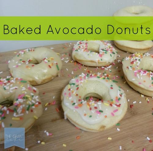 Easy Baked Avocado Donuts