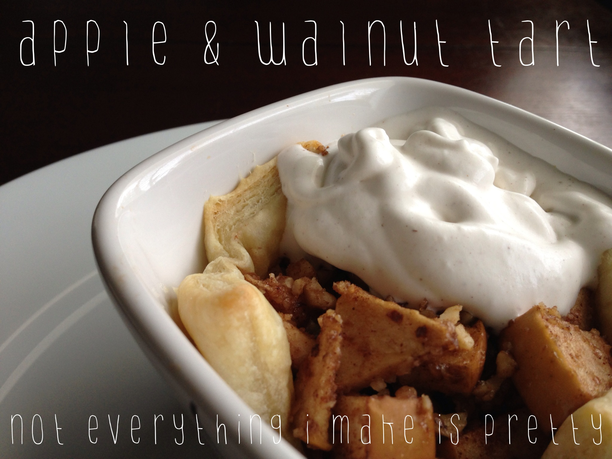 Homemade Breakfast Recipe: Apple and Walnut Tart