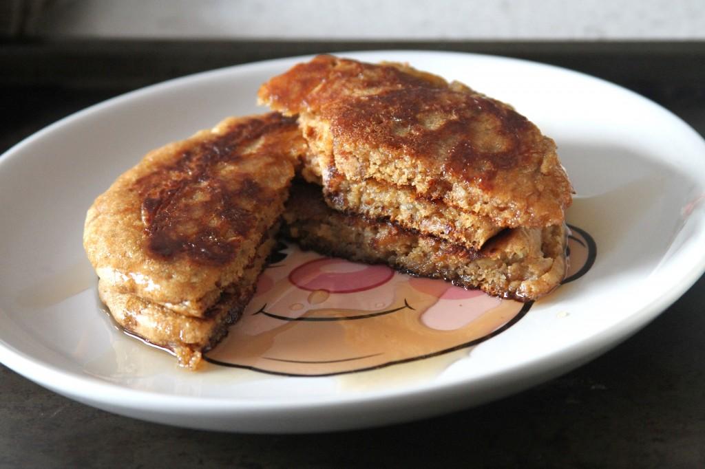 Peanut Butter Banana Olive Oil Pancakes