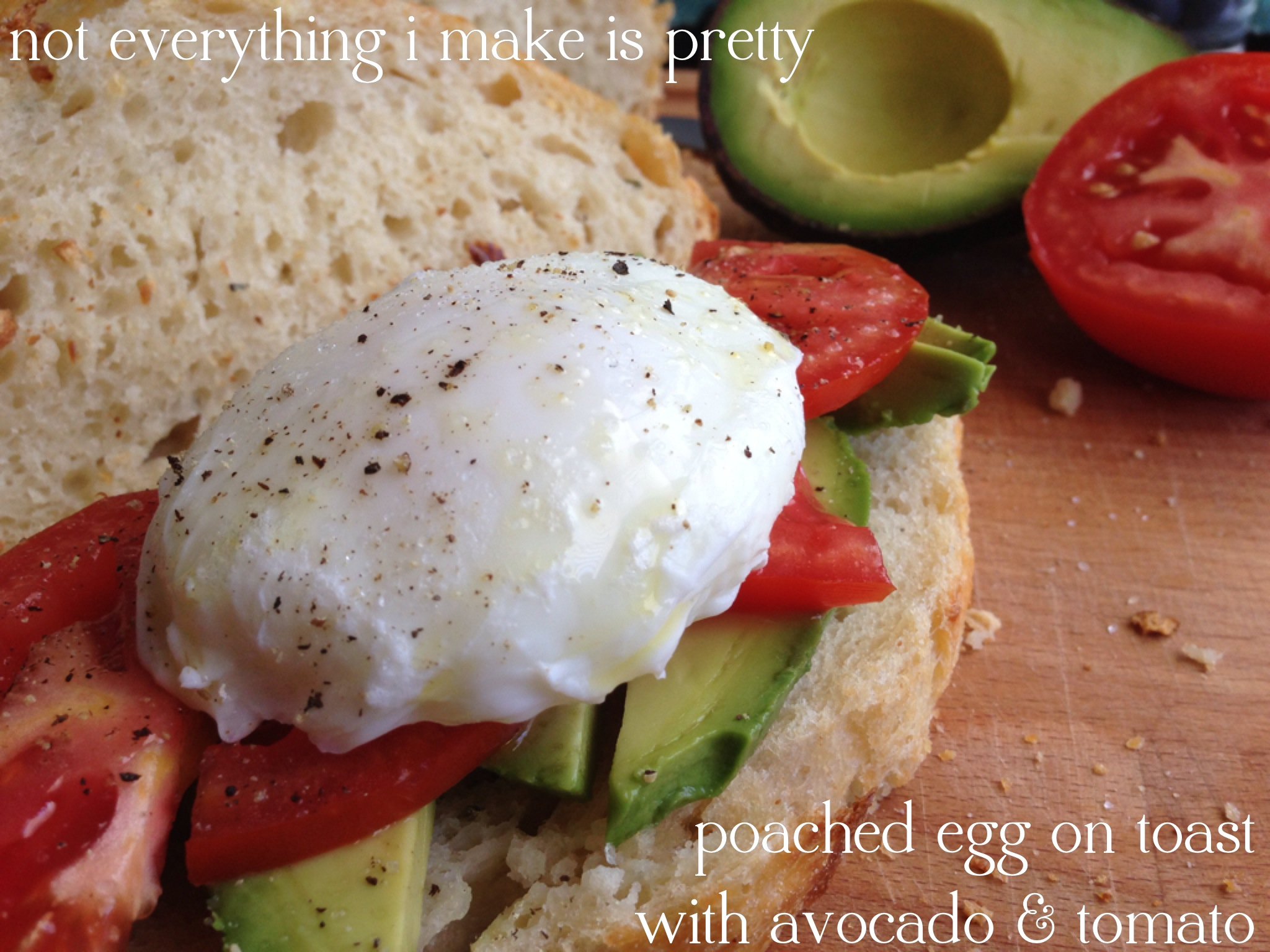 Poached Egg on Toast with Avocado & Tomato