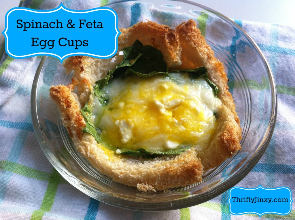 Spinach and Feta Egg Toast Cups